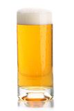 Glass of beer close-up with froth Royalty Free Stock Images