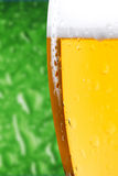 Glass of beer close up Royalty Free Stock Images