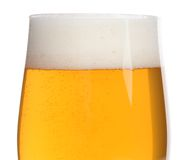 Glass of beer closeup Royalty Free Stock Images