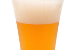 Glass of beer in cup with clipping path Royalty Free Stock Images