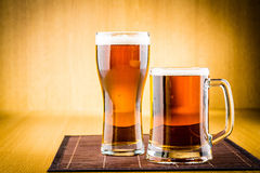 Glass of beer Stock Photos