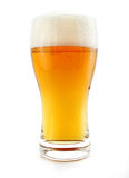 Glass of beer drink with bubbles isolated Royalty Free Stock Image