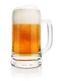 Glass of beer drink with bubbles isolated Stock Photo