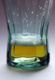 Glass of beer - almost empty Stock Images