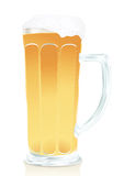 Glass of beer with foam Royalty Free Stock Image