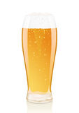 Glass of beer with foam and Vials Royalty Free Stock Photos