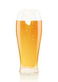 Glass of beer with foam and Vials Stock Photography