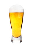 Glass of beer with frost isolated Stock Photo