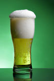 Glass of beer with froth Stock Photos