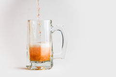 Glass of beer. Isolated on white background Stock Photos