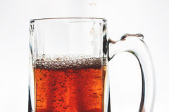 Glass of beer. Isolated on white background Royalty Free Stock Image