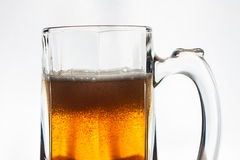Glass of beer. Isolated on white background Stock Photography