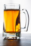 Glass of beer. Isolated on white background Stock Image