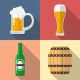 Glass of beer icon Stock Image