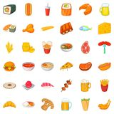 Glass beer icons set, cartoon style. Glass beer icons set. Cartoon style of 36 glass beer vector icons for web isolated on white background Stock Image