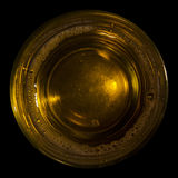A glass of beer. Isolated on black Royalty Free Stock Photo
