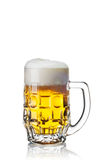 Glass of beer isolated on white Royalty Free Stock Photo