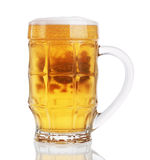 Glass of beer isolated on a white background Royalty Free Stock Images