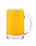 Glass of beer isolated on white Stock Image