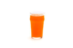 Glass of beer. Isolated on a white background stock photography