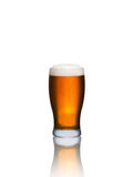 Glass of beer isolated on a white. Background Stock Photography