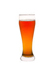 Glass of beer isolated on a white. Background Royalty Free Stock Photos