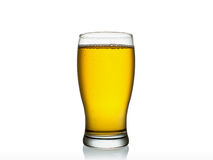 Glass of beer isolated on a white. Background Royalty Free Stock Photography