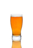 Glass of beer isolated. On a white background Stock Photography