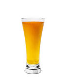 Glass of beer. Isolated on white background Royalty Free Stock Images