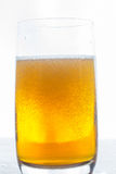 Glass of beer isolated on white background Royalty Free Stock Image