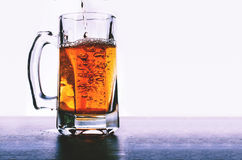 Glass of beer isolated. On white background Royalty Free Stock Images