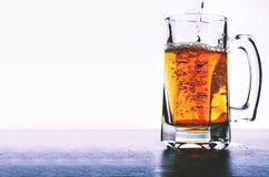 Glass of beer isolated. On white background Stock Images