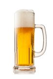 Glass of beer isolated on white background Royalty Free Stock Photos