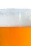 Glass of beer macro view Stock Photography