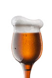 Glass of beer made of bottle Royalty Free Stock Photography