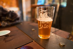 A glass of beer. On the metal sheet Royalty Free Stock Photos