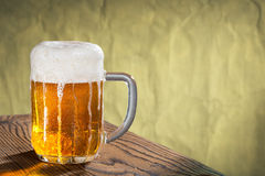 Glass of beer, place for text Stock Images