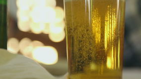 Glass of beer stock video