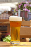 Glass of beer in restaurant on the table Stock Photo