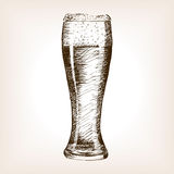 Glass of beer sketch style vector Stock Image