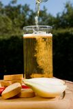 Glass beer with spume Stock Photos
