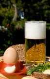 Glass beer with spume Stock Photography