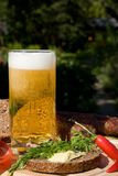 Glass beer with spume Royalty Free Stock Image