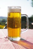 Glass beer table Bavarian outdoors Stock Image