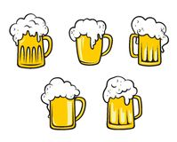 Glass beer tankards Stock Photo