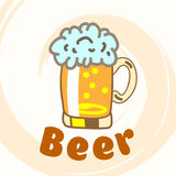 Glass of beer. Stock Photo