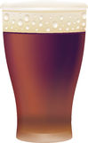 Glass of beer. Vector illustration Stock Image