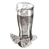 Glass of beer vector logo design template. alcohol Royalty Free Stock Photo