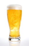 Glass of beer on a white Royalty Free Stock Image