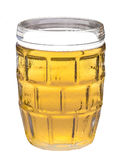A glass of beer on white background Stock Image